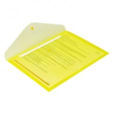 Папка-конверт на кнопке А-4 желтая