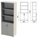 Шкаф комбинированный полузакрытый серый  1942*384*800