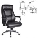 Кресло офисное Phaeton EX-502, натур. кожа, хром, черное,