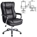 Кресло офисное Аmadeus EX-507, экокожа, хром, черное