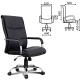 Кресло офисное Space EX-508, экокожа, хром, черное