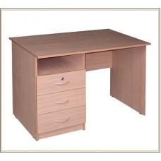 Стол письменный однотумбовый Лайт 1600*г600*в750 мм), левый (ЛТ СО 6-16 L)