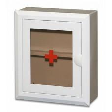 Аптечка настенная со стеклянной дверцей белая