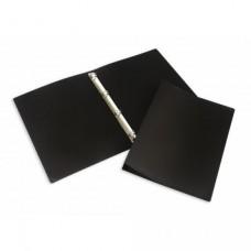 Папка на 4-х кольцах  А-3 вертикал пластиковая, черная