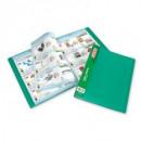 Папка с 40 вкладышами Attache зелёная 0,7мм