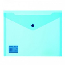 Папка-конверт на кнопке 19*24 синий