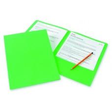 Папка-уголок двойная Bantex  из проч. картона зеленая