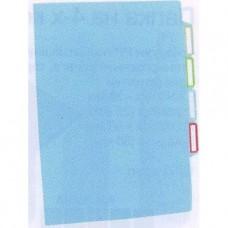 Папка-уголок с разделителями , 3 отделения,асс