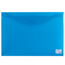 Папка-конверт на кнопке А-3 синяя  10шт/упак