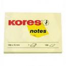 Блок бумажный для записей Kores 100*75 желтый