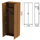 Шкаф для одежды Канц (ш700*г350*в1830 мм), цвет орех