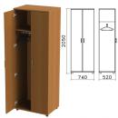 Шкаф для одежды Монолит (ш740*г520*в2050 мм), цвет орех