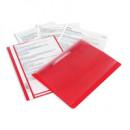 Папка-скоросшиватель с прозрачным верхом Bantex, красная