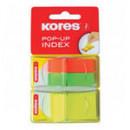 Закладки Kores в пластиковом диспенсере
