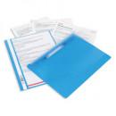 Папка-скоросшиватель с прозрачным верхом Bantex,голубая