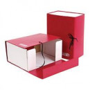 Короб архивный 15см/ 2 завязки складной  Attache, красный