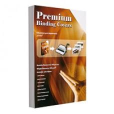 Обложки для переплета картоннная А-4, под кожу белая (100л)