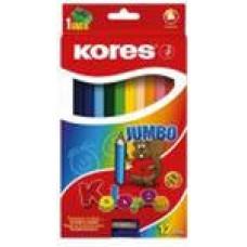 Карандаши цветные набор 12 цветов Kores