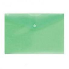 Папка-конверт на кнопке А-5 10 шт/уп,зеленая