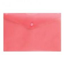 Папка-конверт на кнопке А-5 10шт/уп, красная