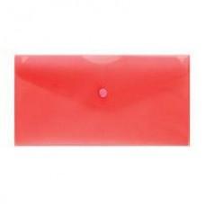 Папка-конверт на кнопке 250*130 10шт/упак,красная
