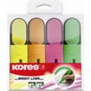 Текстовыделитель Kores набор 4 цвета