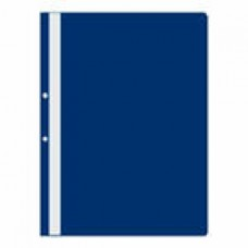 Папка-скоросшиватель пластиковый с перфорацией на корешке, синий