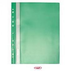 Папка-скоросшиватель пластиковый с перфорацией на корешке, зеленый