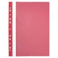 Папка-скоросшиватель пластиковый с перфорацией на корешке, красный