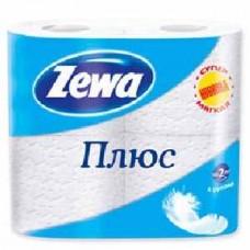 Бумага туалетная Zewa  белая (4шт) 2-х слойная