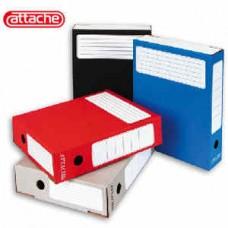 Архивный короб картонный ATTACHE 75мм красная