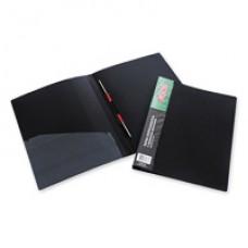 Папка-скоросшиватель пружинный пластик 0,7 мм черная