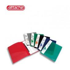 Папка-скоросшиватель пружинный пластик 0,7 мм зеленая