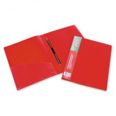 Папка-скоросшиватель пружинный пластик 0,7 мм красная