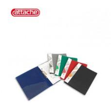 Папка с прижимом Attache F611 0,7мм черная