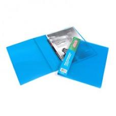 Папка-скоросшиватель пружиный Attache пластик прозрачно-синяя