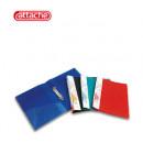 Папка на 2-х кольцах Attache пластик, ширин. 4.2см, пластик 0,7мм син.
