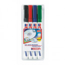 Маркер перманент  для CD Edding  E-8400 набор 4 цвета