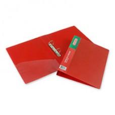 Папка на 2-х кольцах Attache пластик, ширин. 4.2см, пластик 0,7мм,красная