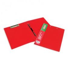 Папка-скоросшиватель пластиковая пружин+мех. приж  ATTACHE красная
