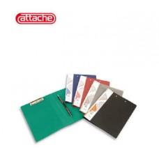 Папка-скоросшиватель пластиковая пружин+мех. приж  ATTACHE зеленая