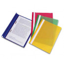 Папка-скоросшиватель с прозрачным верхом зеленая