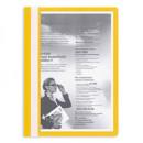 Папка-скоросшиватель с прозрачным верхом желтая