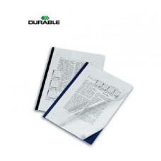 Папка-скоросшиватель DuraGrip синий(5скрепшин+5 обложек)