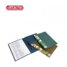 Папка-скоросшиватель пружинный Attache М612 металлик зеленый
