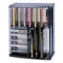 Стойка на 35 CD  и 8 DVD PO MR-43VS  2в1 графит
