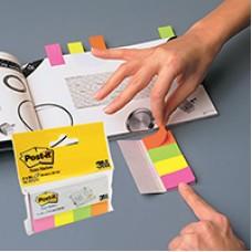 Закладки набор 3М 4цв.по 50 лист. бумажные для маркир.страниц