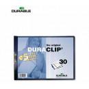 Папка с клипом Durable DuraClip А4, горизонт.синяя до 30 листов