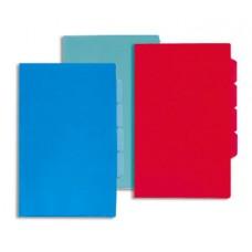 Папка-уголок А-4 на 3 отд. 180мкм синяя