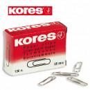 Скрепки 25 мм KORES кругл (100шт) хромиров